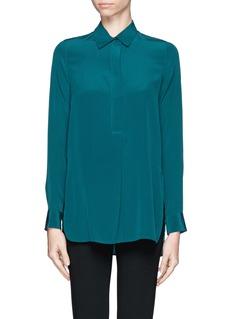 VINCEHalf placket silk shirt
