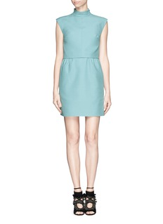 VALENTINO Crepe Couture layer combo dress