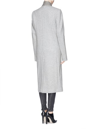 Back View - Click To Enlarge - Haider Ackermann - Extra long slant front wool blend coat