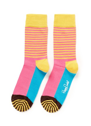 Main View - Click To Enlarge - Happy Socks - Stripe half socks