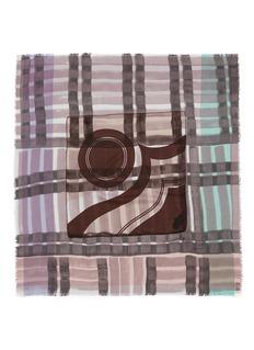 DIANORA SALVIATIVintage geometric cashmere-silk scarf