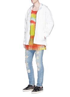 Faith ConnexionStar patch bleached zip hoodie