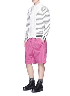 SacaiBelted overdyed cotton shorts
