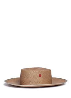 My Bob'Sevillana' butterfly appliqué straw boater hat
