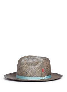 My Bob'Fedora Vintage' grosgrain ribbon mélange straw hat