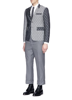 Thom Browne Lifesaver and anchor eyelet embroidered blazer