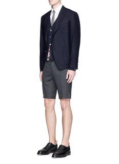 Thom BrowneWool hopsack shorts