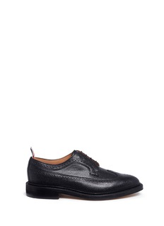 Thom Browne Classic longwing brogue pebble leather derbies