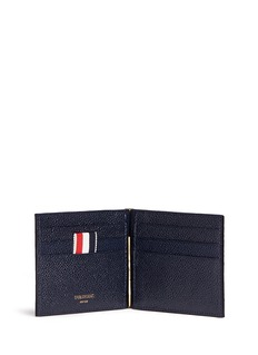 Thom BrownePebble grain leather money clip wallet