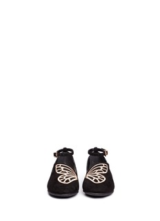 Sophia Webster 'Bibi Butterfly Mini' embroidered suede toddler flats