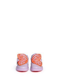 SOPHIA WEBSTERBIBI LOW TOP MINI幼儿款蝴蝶翅膀刺绣拼贴真皮运动鞋
