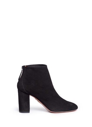 Main View - Click To Enlarge - Aquazzura - 'Downtown 85' suede ankle boots