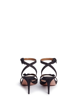 Back View - Click To Enlarge - Aquazzura - 'Passion' knotted bow suede sandals