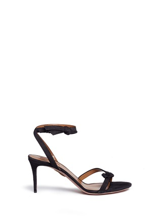 Main View - Click To Enlarge - Aquazzura - 'Passion' knotted bow suede sandals