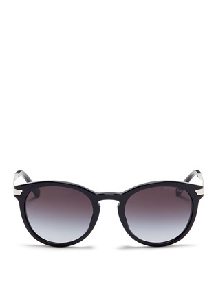 Main View - Click To Enlarge - Michael Kors - 'Adrianna III' keyhole bridge acetate round sunglasses