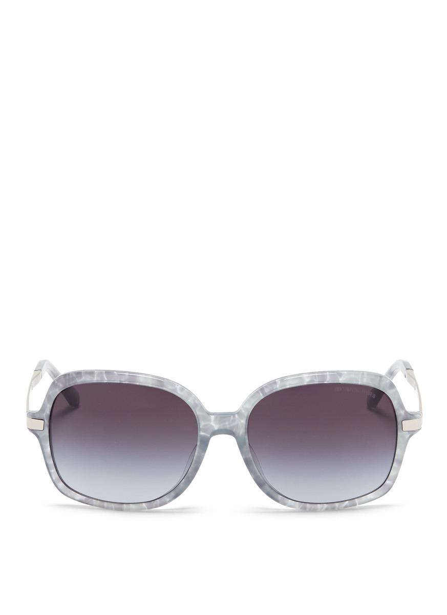 michael kors female 45906 adrianna ii tortoiseshell acetate square sunglasses