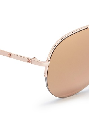Detail View - Click To Enlarge - Michael Kors - 'Gramercy' aviator mirror sunglasses