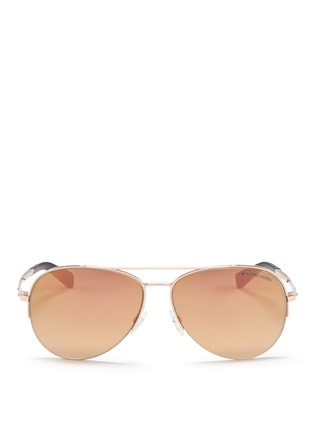 Main View - Click To Enlarge - Michael Kors - 'Gramercy' aviator mirror sunglasses