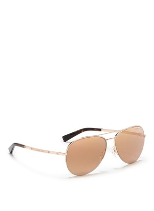 Figure View - Click To Enlarge - Michael Kors - 'Gramercy' aviator mirror sunglasses