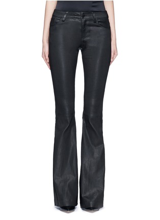 Main View - Click To Enlarge - alice + olivia - Lambskin leather bell bottom pants