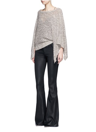 Figure View - Click To Enlarge - alice + olivia - Lambskin leather bell bottom pants