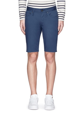 Main View - Click To Enlarge - Denham - 'Razor' cotton shorts