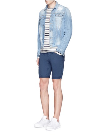 Figure View - Click To Enlarge - Denham - 'Razor' cotton shorts