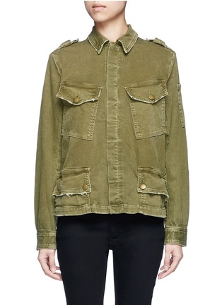 Main View - Click To Enlarge - Current/Elliott - Distressed denim military jacket