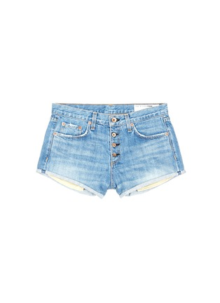 Main View - Click To Enlarge - rag & bone/JEAN - 'Marilyn Fly' denim shorts