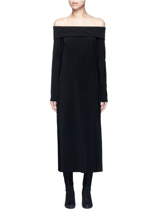 Main View - Click To Enlarge - Lanvin - Fold off-shoulder twill dress
