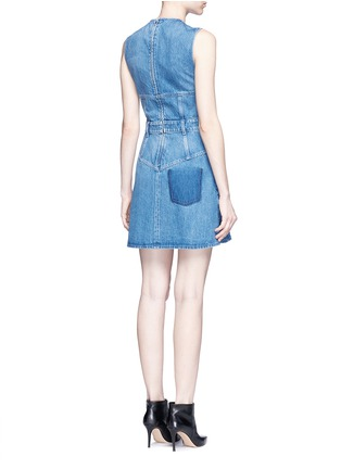 Back View - Click To Enlarge - Alexander McQueen - Dark wash denim dress