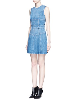 Front View - Click To Enlarge - Alexander McQueen - Dark wash denim dress