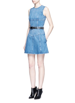 Figure View - Click To Enlarge - Alexander McQueen - Dark wash denim dress
