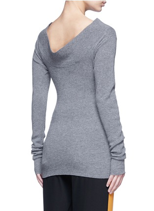Back View - Click To Enlarge - Stella McCartney - Off-shoulder rib knit wool sweater