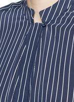 'Blaine' stripe long silk shirt dress