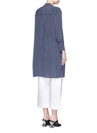 Back View - Click To Enlarge - Equipment - 'Blaine' stripe long silk shirt dress