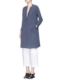 EQUIPMENT'Blaine' stripe long silk shirt dress