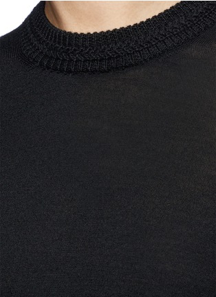 Detail View - Click To Enlarge - Isabel Marant - 'Clap' split back short sleeve sweater