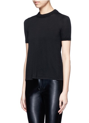 Front View - Click To Enlarge - Isabel Marant - 'Clap' split back short sleeve sweater