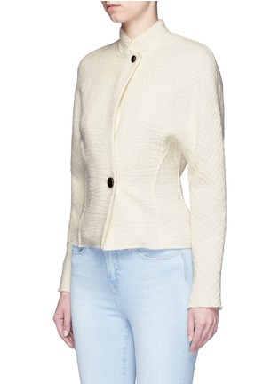 Front View - Click To Enlarge - Isabel Marant - 'Linda' high collar virgin wool jacket