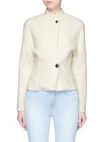 'Linda' high collar virgin wool jacket