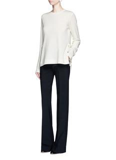 Proenza SchoulerSide tie wool blend jersey T-shirt