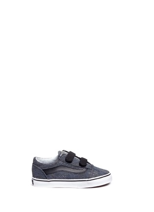 Main View - Click To Enlarge - Vans - 'Acid Denim Old Skool V' toddler sneakers
