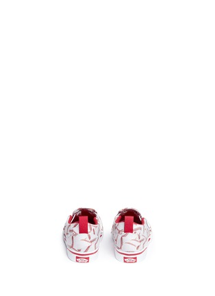 Back View - Click To Enlarge - Vans - 'Slip-on V Sports' baseball print toddler skate shoes