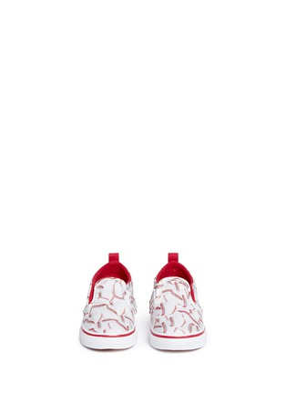 Figure View - Click To Enlarge - Vans - 'Slip-on V Sports' baseball print toddler skate shoes