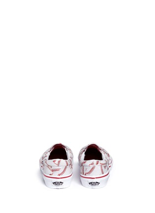 Back View - Click To Enlarge - Vans - 'Sports Classic' baseball print kids slip-ons