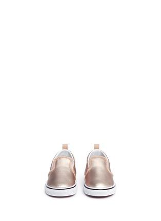 Figure View - Click To Enlarge - Vans - 'Slip-on V Metallic' leather toddler skate shoes