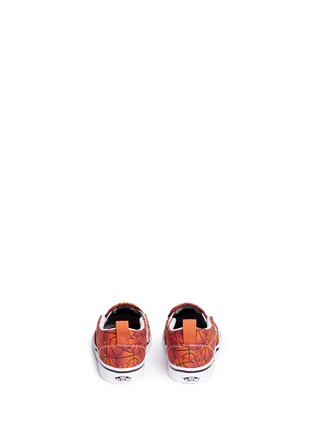 Back View - Click To Enlarge - Vans - 'Slip-on V Sports' basketball print toddler skate shoes