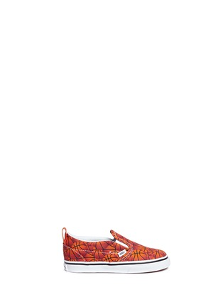 Main View - Click To Enlarge - Vans - 'Slip-on V Sports' basketball print toddler skate shoes