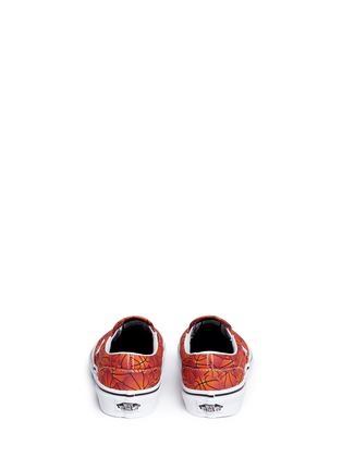 Back View - Click To Enlarge - Vans - 'Classic Sports' basketball print canvas kids slip-ons